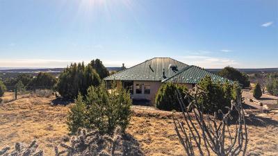 Tijeras, Cedar Crest, Sandia Park, Edgewood, Moriarty, Stanley Single Family Home For Sale: 43 Western Saddle Drive