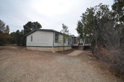 Edgewood NM Manufactured Home For Sale: $75,000