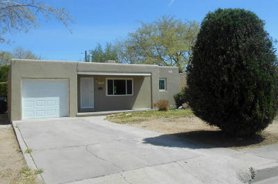 Albuquerque NM Single Family Home For Sale: $110,000