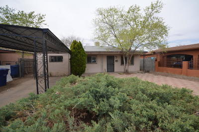 Albuquerque NM Single Family Home For Sale: $108,200