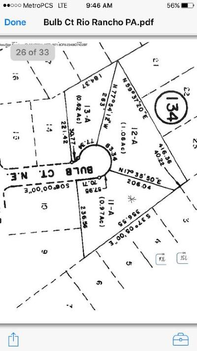 Rio Rancho Residential Lots & Land For Sale: Bulb Court NE