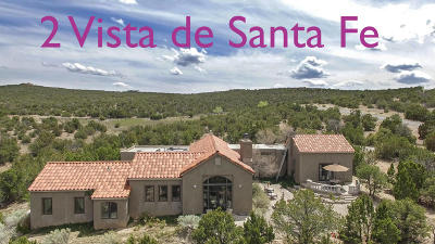 Tijeras, Cedar Crest, Sandia Park, Edgewood, Moriarty, Stanley Single Family Home For Sale: 2 Vista De Santa Fe