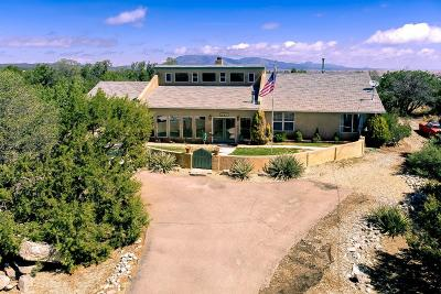 Tijeras, Cedar Crest, Sandia Park, Edgewood, Moriarty, Stanley Single Family Home For Sale: 41 Walker Road