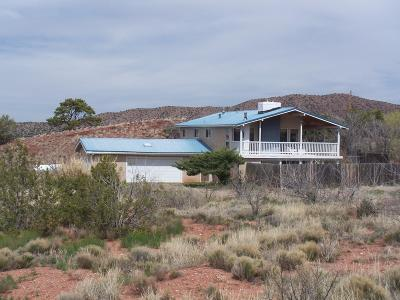 Placitas Single Family Home For Sale: 5 Al Pie De La Loma