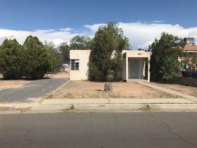 Albuquerque NM Single Family Home For Sale: $71,000