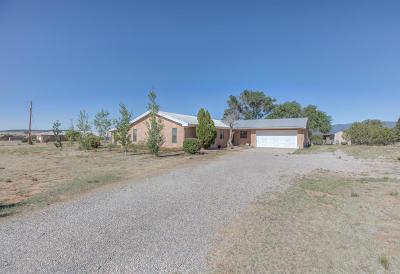 Tijeras, Cedar Crest, Sandia Park, Edgewood, Moriarty, Stanley Single Family Home For Sale: 20 Juniper Drive