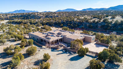 Tijeras, Cedar Crest, Sandia Park, Edgewood, Moriarty, Stanley Single Family Home For Sale: 6 Canada Vista Drive