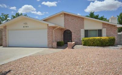 Albuquerque Single Family Home For Sale: 6705 Gleason Avenue NW