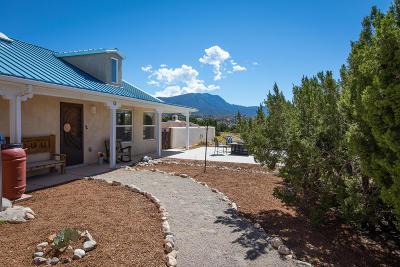 Placitas Single Family Home For Sale: 56 Camino De La Questa Del Aire