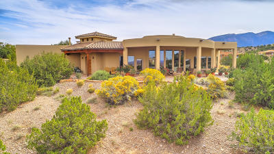 Placitas Single Family Home For Sale: 7 First Mesa Court