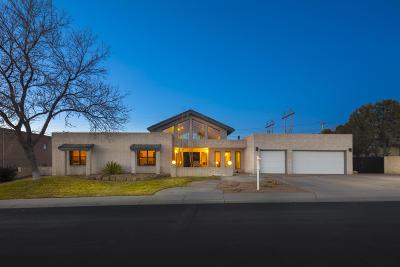 Single Family Home For Sale: 9701 Tanoan Drive NE