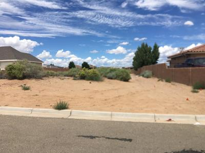 Rio Rancho NM Residential Lots & Land For Sale: $70,000