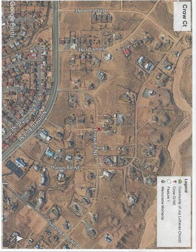 Rio Rancho Residential Lots & Land For Sale: Crow Court NE