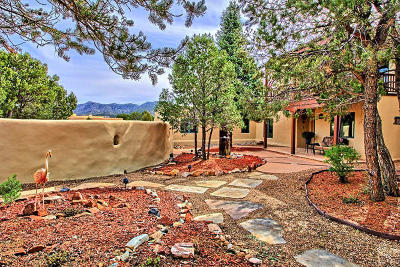 Tijeras, Cedar Crest, Sandia Park, Edgewood, Moriarty, Stanley Single Family Home For Sale: 44 Paa-Ko Drive