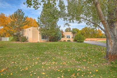 Albuquerque Single Family Home For Sale: 7539 Camino Del Rio NW