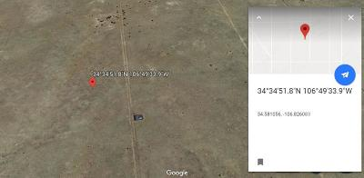 Valencia County Residential Lots & Land For Sale: No Name