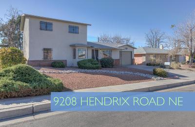 Albuquerque Single Family Home For Sale: 9208 Hendrix Road NE