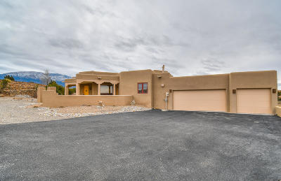 Placitas Single Family Home For Sale: 36 Anasazi Trails Loop