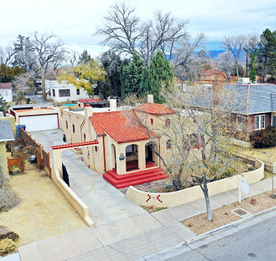 Albuquerque Single Family Home For Sale: 1601 Roma Avenue NE