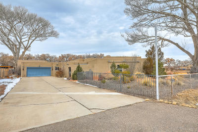 Bernalillo County Single Family Home For Sale: 10019 Riverside Road NW
