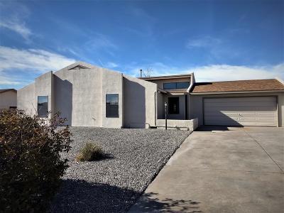 Rio Rancho Single Family Home For Sale: 289 Tigris Road NE