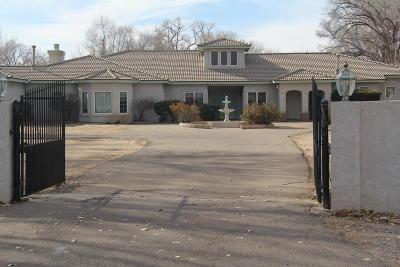 Albuquerque Single Family Home For Sale: 7515 Camino Del Rio NW