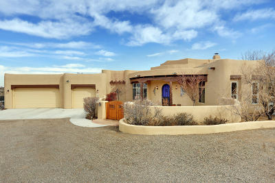 Corrales Single Family Home For Sale: 170 Camino Rayo Del Sol