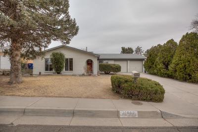 Albuquerque Single Family Home For Sale: 11800 Tracy Court NE