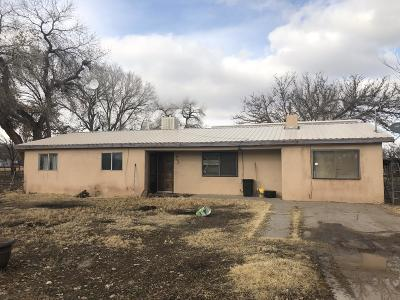 Valencia County Single Family Home For Sale: 4628 Franklin Road
