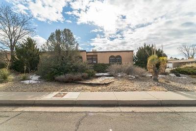 Albuquerque Single Family Home For Sale: 11600 Phoenix Avenue NE