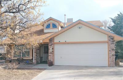 Valencia County Single Family Home For Sale: 6 Marigold Boulevard