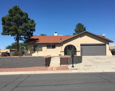 Rio Rancho Single Family Home For Sale: 407 Cabeza Negra Drive SE