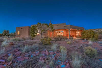 Placitas Single Family Home For Sale: 281 Star Meadow Road