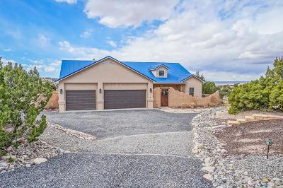 Placitas, Bernalillo Single Family Home For Sale: 6 Indian Flats Road