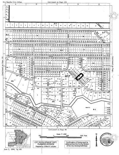 Rio Rancho Residential Lots & Land For Sale: 4439 Baranca(L26 B12 U17) Road NE