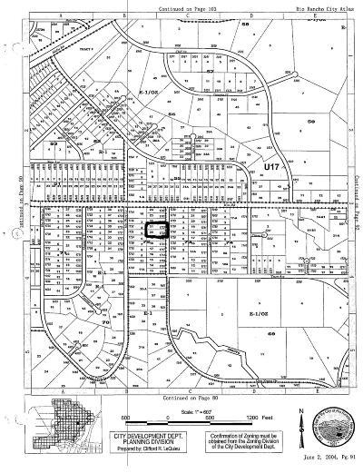 Rio Rancho Residential Lots & Land For Sale: Gros Ventre (L21-A B72 U17) NE