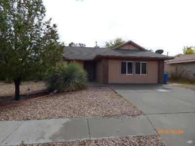 Albuquerque NM Single Family Home For Sale: $134,900