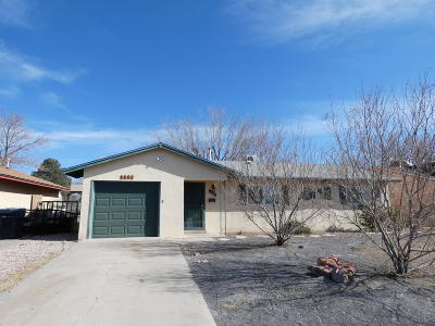 Albuquerque NM Single Family Home For Sale: $103,000