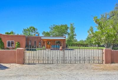 Corrales Single Family Home For Sale: 47 Perea Road