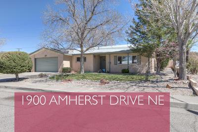 Albuquerque Single Family Home For Sale: 1900 Amherst Drive NE