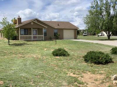 Tijeras, Cedar Crest, Sandia Park, Edgewood, Moriarty, Stanley Single Family Home For Sale: 54 Salida Del Sol Trail