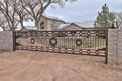 Corrales Single Family Home For Sale: 322 Camino Corrales Del Norte