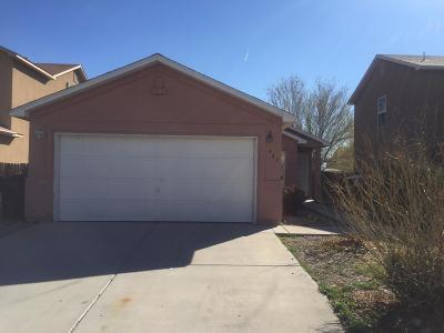 Albuquerque Single Family Home For Sale: 482 Desert Mist Drive SW