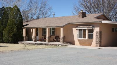 Valencia County Single Family Home For Sale: 1170 Willow Trail