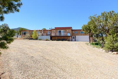 Tijeras, Cedar Crest, Sandia Park, Edgewood, Moriarty, Stanley Single Family Home For Sale: 5823 La Madera Road