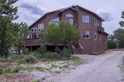 Tijeras, Cedar Crest, Sandia Park, Edgewood, Moriarty, Stanley Single Family Home For Sale: 36 Bobcat Hill Trail
