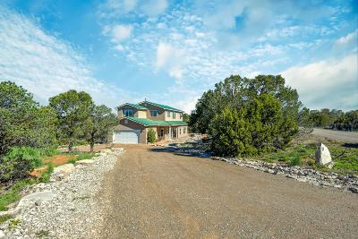 Tijeras, Cedar Crest, Sandia Park, Edgewood, Moriarty, Stanley Single Family Home For Sale: 34 Snowflake Trail