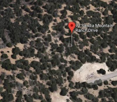 Bernalillo County Residential Lots & Land For Sale: 72 Sandia Mountain Ranch Drive