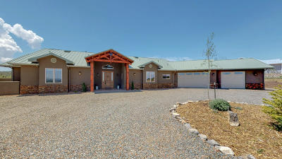 Tijeras Single Family Home For Sale: 10 Mustang Mesa Trail