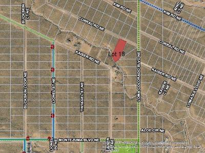 Rio Rancho NM Residential Lots & Land For Sale: $11,000